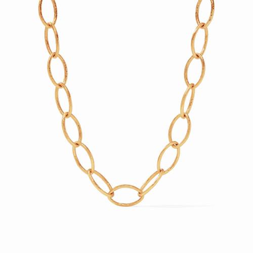 Julie Vos Fleur de Lis Link Necklace - Gold