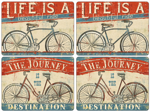 Set of 4 Beautiful Ride Placemats by Pimpernel - Special Order