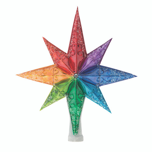 Pre-Order - Rainbow Stellar Finial by Christopher Radko