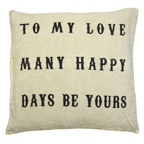 """24"""" X 24"""" To My Love Pillow by Sugarboo Designs - Special Order"""