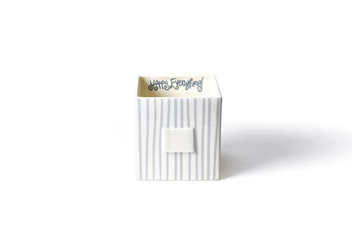 Stone Stripe Mini Nesting Cube Medium by Happy Everything!