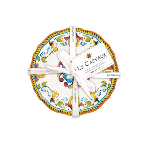 """Toscana 6.5"""" Appetizer Plates (Set of 4) by Le Cadeaux"""