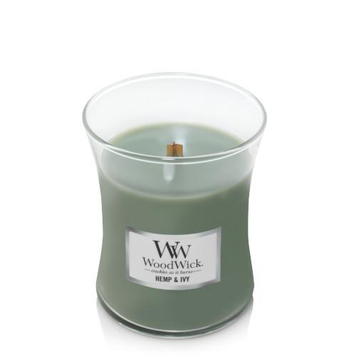 Hemp & Ivy WoodWick Medium Jar Candle