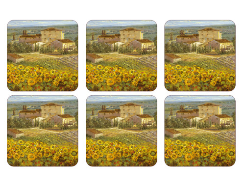 Set of 6 Tuscany Coasters by Pimpernel - Special Order