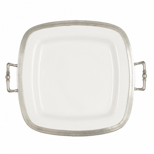 Tuscan Square Tray with Handles - Arte Italica