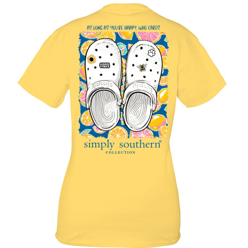 Small Clogs Sunflower Short Sleeve Tee by Simply Southern