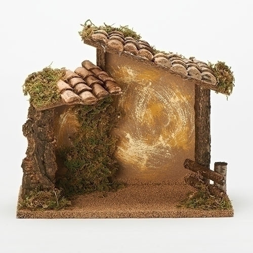"""10"""" Golden Edition Musical Italian Stable for 5"""" Scale Figurines - Fontanini - Special Order"""
