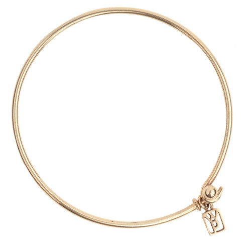 Brass Wire Bangle by Waxing Poetic