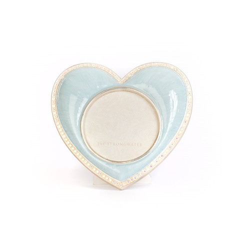 Jay Strongwater Chantal Heart Frame - Blue - Special Order
