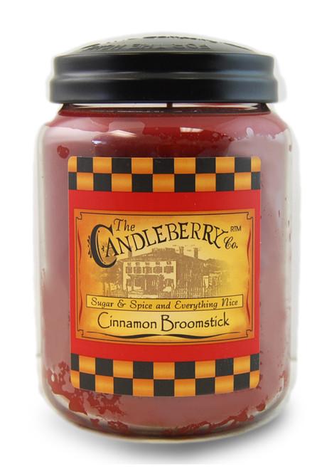 Cinnamon Broomstick 26 oz. Large Jar Candleberry Candle