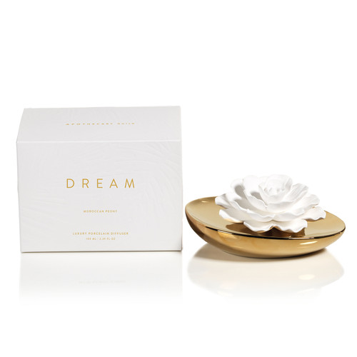 Moroccan Peony 3.4 oz. Apothecary Guild Dream Porcelain Diffuser by Zodax