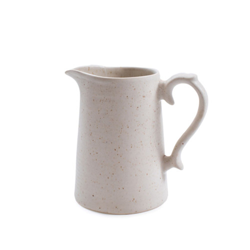 Ribbed Ceramic Speckled Pitcher by Sugarboo Designs - Special Order