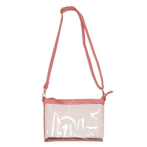 Pink Leather Clear Crossbody by Simply Southern