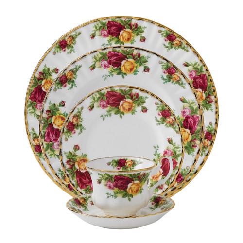 Old Country Roses 5-Piece Place Setting by Royal Albert