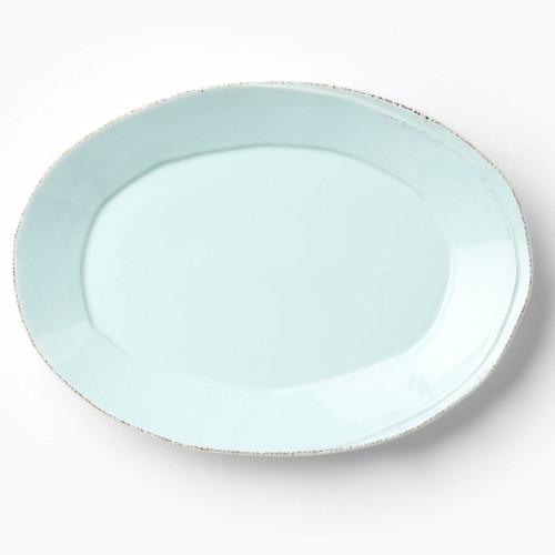 Vietri Lastra Aqua Oval Platter - Special Order