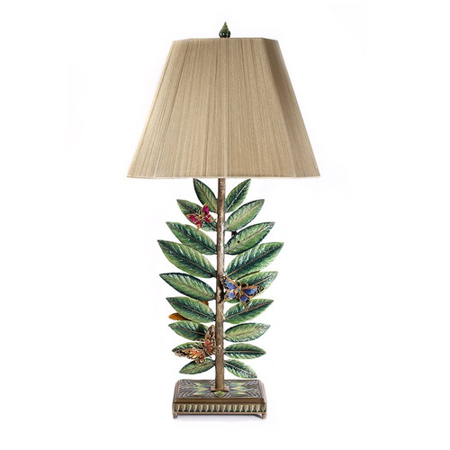 Jay Strongwater Timothy Butterfly & Leaf Lamp - Flora - Special Order