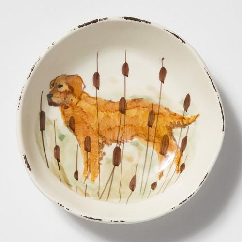Vietri Wildlife Hunting Dog Pasta Bowl - Special Order