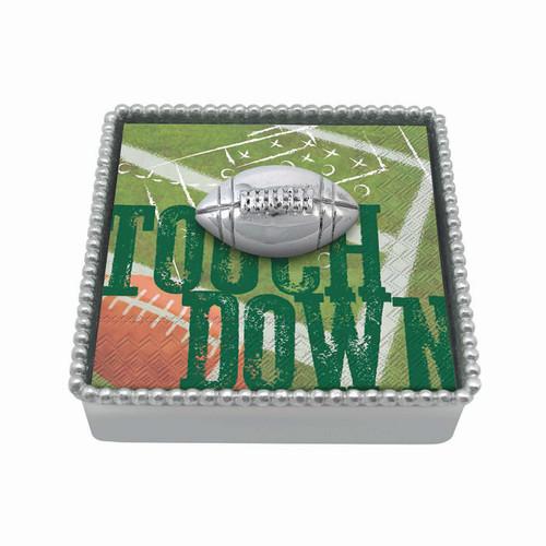 Football Beaded Napkin Box by Mariposa