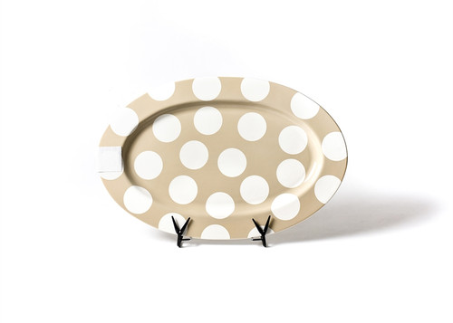 """Neutral Dot Big 20"""" Oval Entertaining Platter by Happy Everything!"""