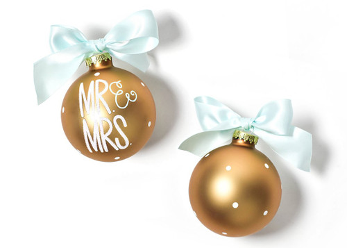 Mr. & Mrs. Glass Ornament by Happy Everything!