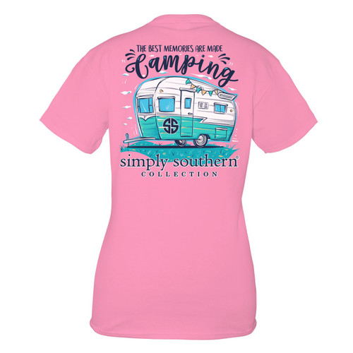 Small Flamingo Camping Short Sleeve Tee by Simply Southern