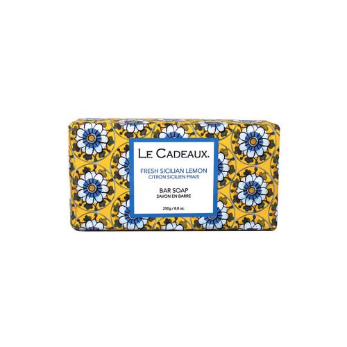 Fresh Sicilian Lemon Scented Fresh Milled Bar Soap by Le Cadeaux