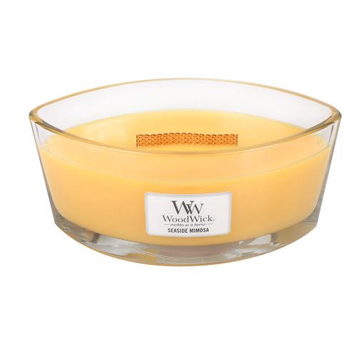 Seaside Mimosa WoodWick Candle 16 oz.  HearthWick Flame
