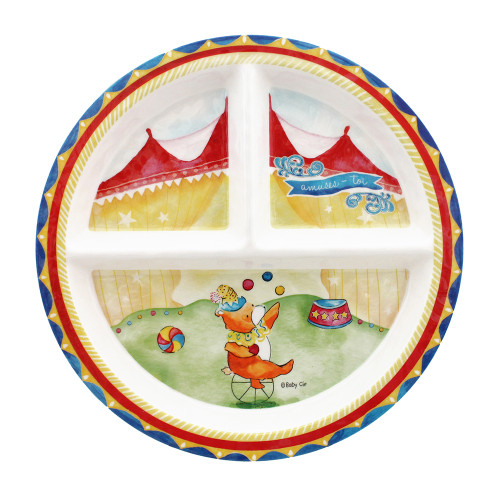 Enjoy Yourself Sectioned Plate by Baby Cie