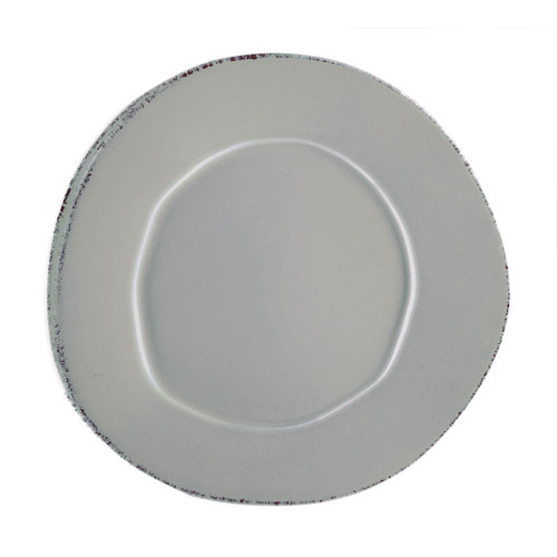Vietri Lastra Gray European Dinner Plate