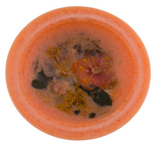 "Georgia Peach Blossom 7"" Wax Pottery Vesselby Habersham Candle Co."
