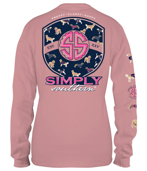 Small Pup Logo Crepe Long Sleeve Tee by Simply Southern