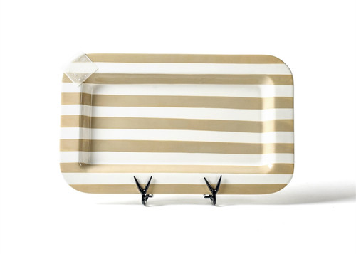 Neutral Stripe Mini Entertaining Platter by Happy Everything!