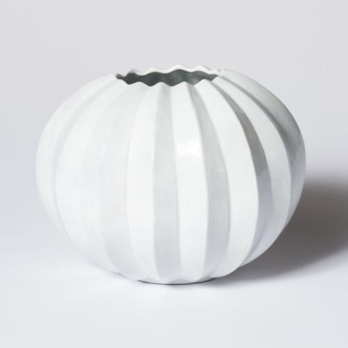 Vietri Incanto Pleated Round Vase - Special Order