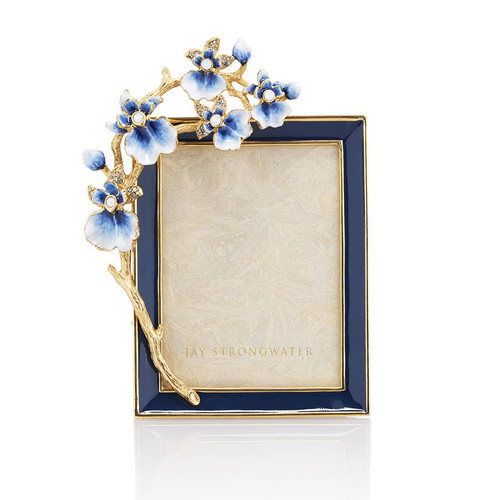 """Jay Strongwater Kelsey Orchid 3""""x4"""" Frame - Special Order"""