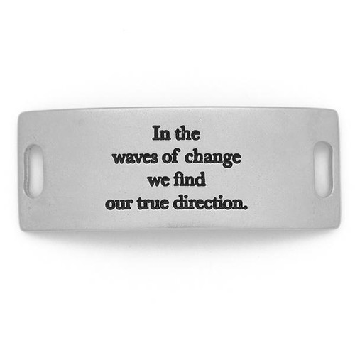 In the Waves of Change Essential Sentiment - Matte Silver - Lenny & Eva