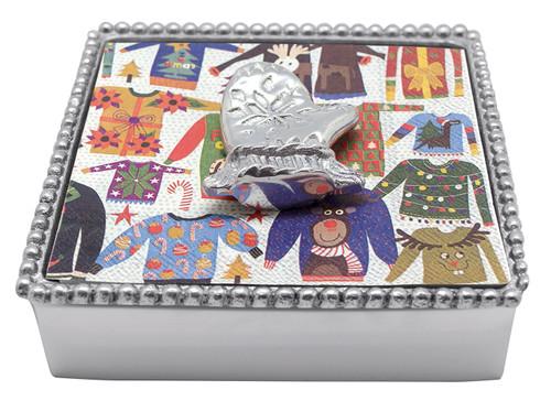 Mitten Beaded Napkin Box by Mariposa