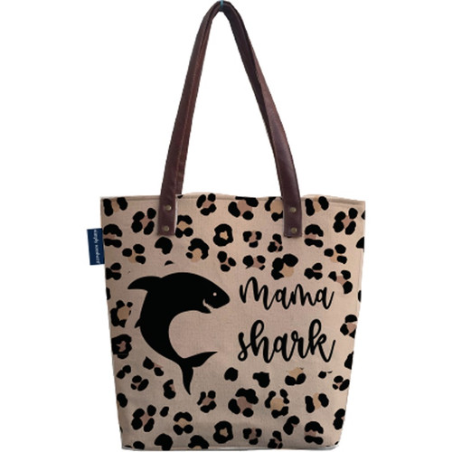 Shark Canvas Bag by Simply Southern