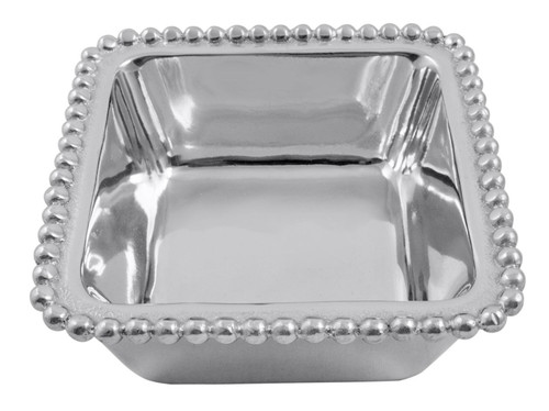Beaded Square Condiment Bowl by Mariposa - Special Order