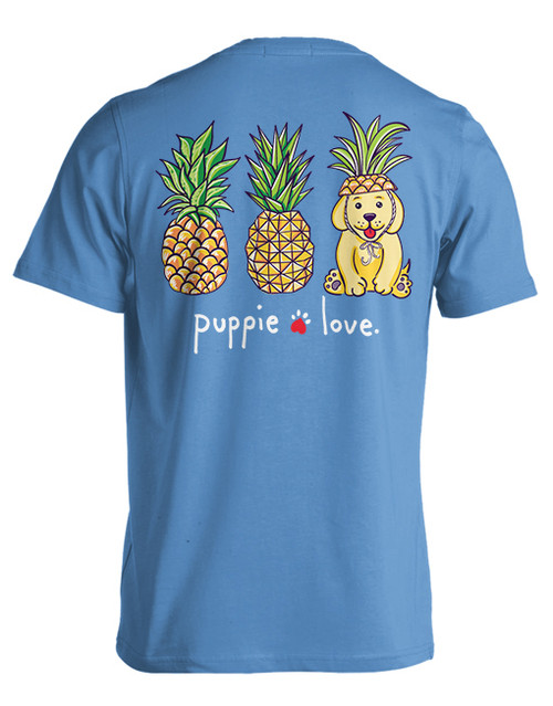 Small Iris Pineapple Disguise Pup Short Sleeve Tee by Puppie Love