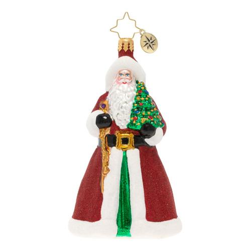 Glitter & Glitz Santa Ornament by Christopher Radko