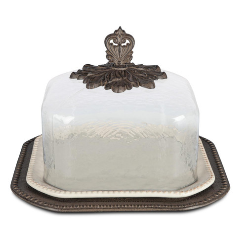 17 in. Pastry Keeper-Cream - GG Collection
