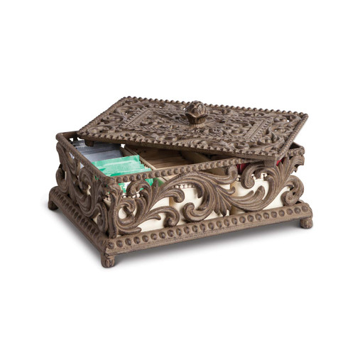 Tea Box with 5 Ceramic Inserts - GG Collection