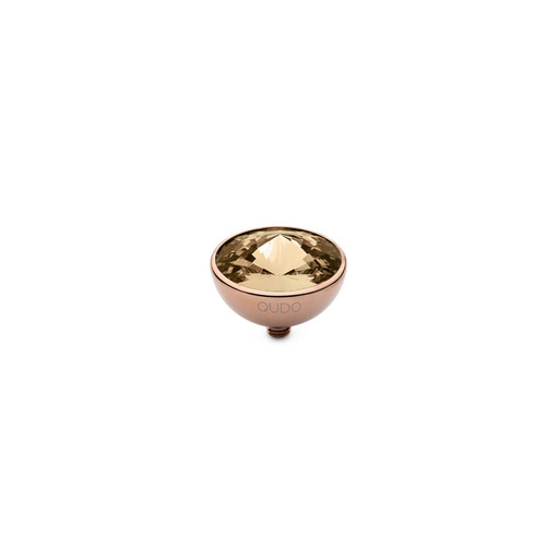 Light Colorado Topaz 13mm Rose Gold Interchangeable Top by Qudo Jewelry