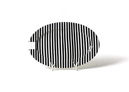 """Black Stripe Big 20"""" Oval Entertaining Platter by Happy Everything!"""