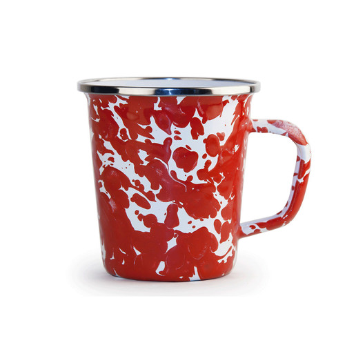 Set of 4 - Red Swirl 16 oz. Latte Mug by Golden Rabbit - Special Order