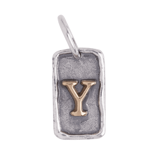 """Letter """"Y"""" Tag Insignia Charm by Waxing Poetic"""