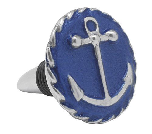 Cobalt Anchor Bottle Stopper by Mariposa - Special Order