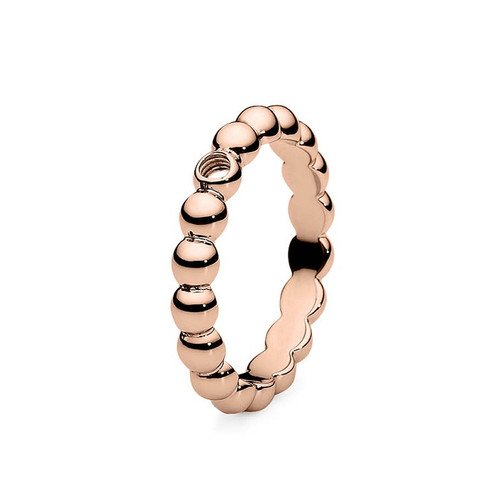 Size 9 Rose Gold Veroli Basic Interchangeable Ring by Qudo Jewelry