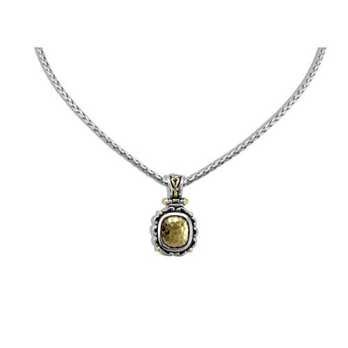 Nouveau Simplicity Hammered Antique Oval Slider With Chain by John Medeiros - Special Order