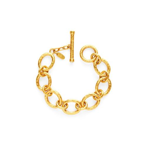 Julie Vos Catalina Small Link Bracelet-Gold Pearl